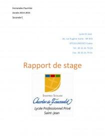 Exemple Raport Type De Stage Rapport De Stage Paulou181o