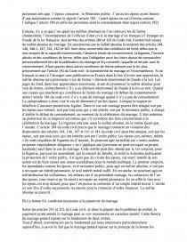dissertation sur le mariage putatif