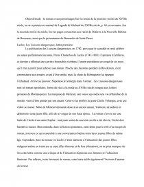 dissertation sur les liaisons dangereuses laclos