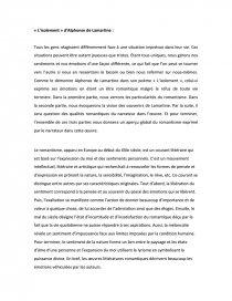 Lisolement Alphonse De Lamartine Commentaire De Texte