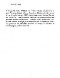 Exemple De Conclusion Rapport Stage En Maison Retraite | Ventana Blog