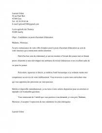 Lettre De Motivation Assistant D Education Lettre Type Lolo45360