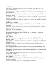 dissertation fordisme taylorisme