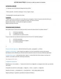 Marguerite Duras Lettre De La Mere Aux Agents Du Cadastre Commentaire De Texte Mimiof77