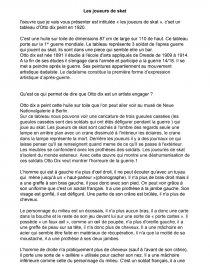 Les Joueurs De Skat Otto Dix Commentaire D Oeuvre Paul Branthonne