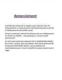 Rapport De Stage Fiduciaire Rapport De Stage Sisig07